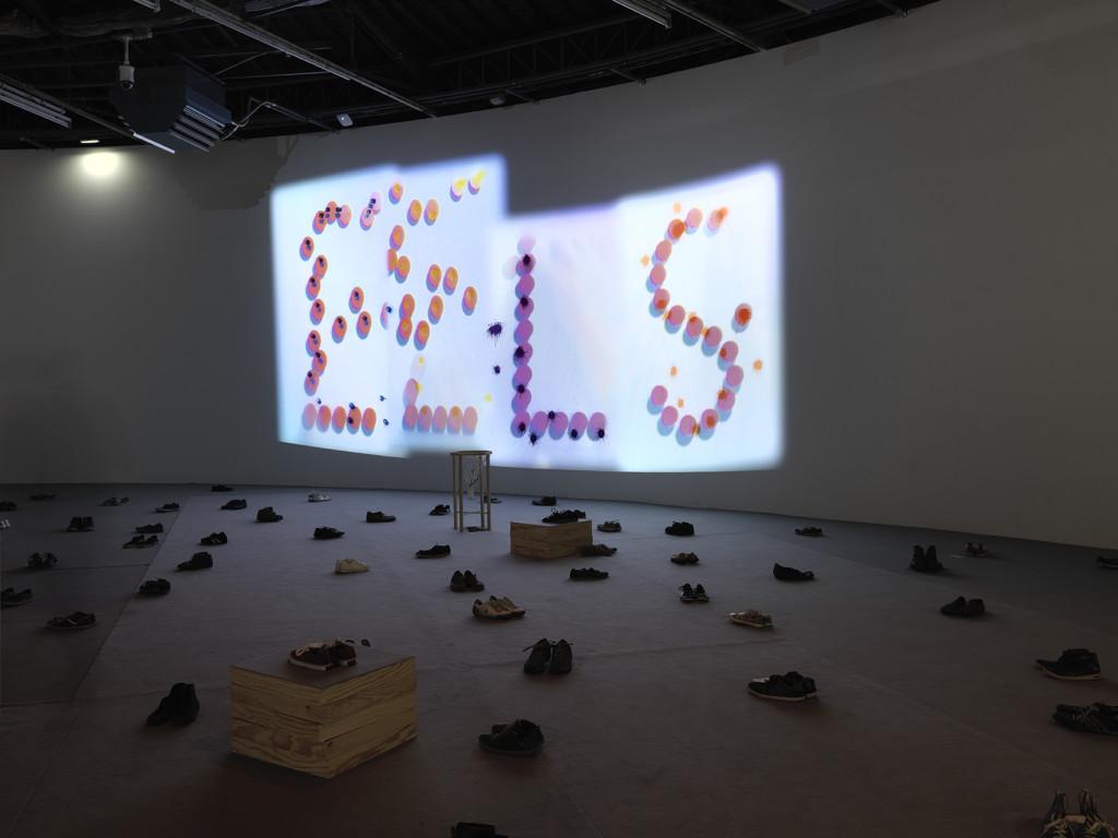"""Taro Izumi's exhibition """"Pan"""". Palais de Tokyo."""