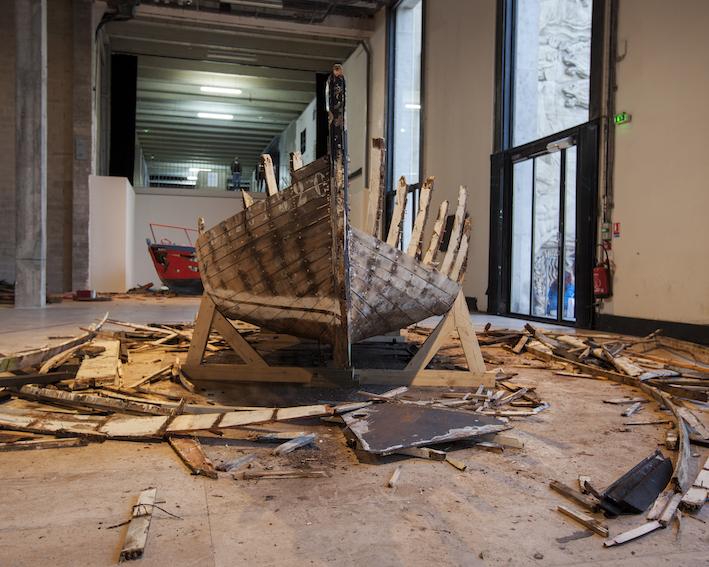 "Hector Zamora's exhibition ""Ordre et Progrès""."