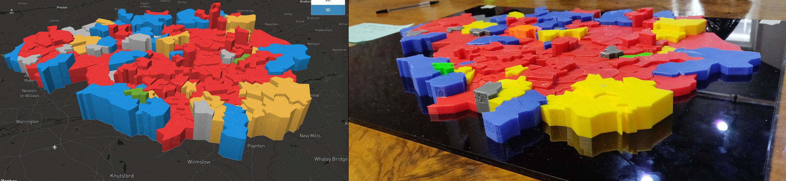 3D printing Greater Manchester wards - from GeoJson to STL — Sean Borg