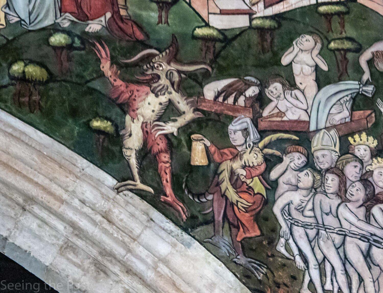 alewives were often depicted in medieval dooms