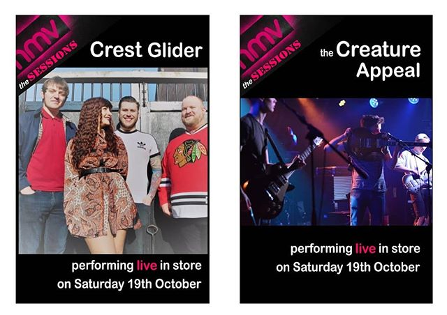 2pm Saturday catch us at HMV Merry Hill where we'll be performing and signing copies of our new EP 'When Sirens Smile'. 12.30pm see @thecreatureappeal. Many thanks to @rawsoundtv for their continued support! #livemusic #indie #punk #rockmusic #alternativemusic