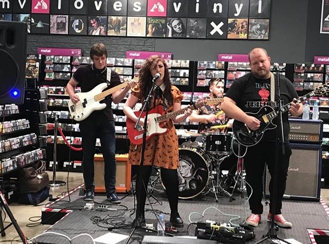 We are really grateful to @rawsoundtv and the team at @hmvinstagram for everything today. We had a blast, gained some new fans and outsold Foals' new album. There are just a few copies of 'When Sirens Smile' left so please grab yourself one - it would be amazing to sell out 😉👌 but most importantly, show your support to @rawsoundtv - they are amazing! #newmusic #alternativemusic #punk #indie #rockmusic @hellbunnyofficial