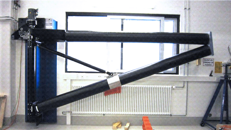 Calibration Arm - Length 4200 mmDesign Criteria- High stiffness- Low static displacement at tip- Adapted thermal expansion (to steel structure of telescope)