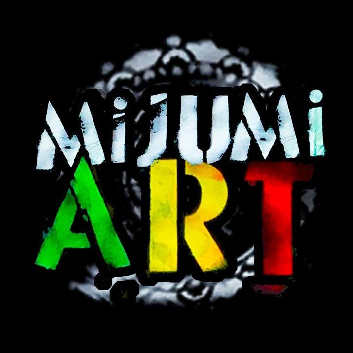 Mijumi Art - Original artwork on canvas, wood, hats, tile, cabinet doors, etc.