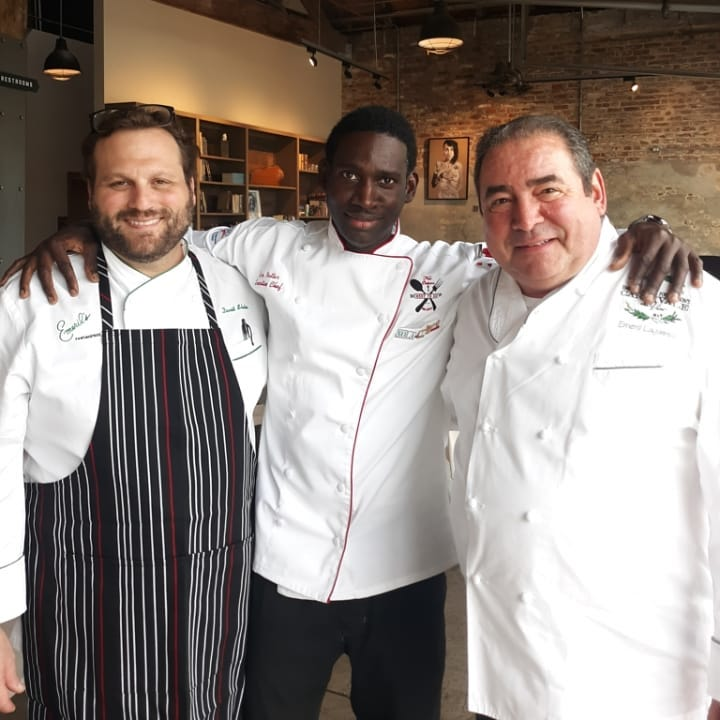 Chef Netter with Chef Emeril Lagasse and Chef David Slater