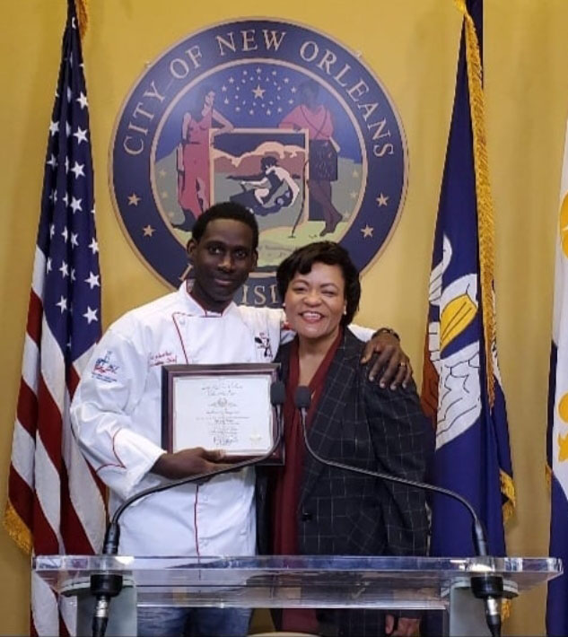 Chef Gary with Mayor LaToya Cantrell