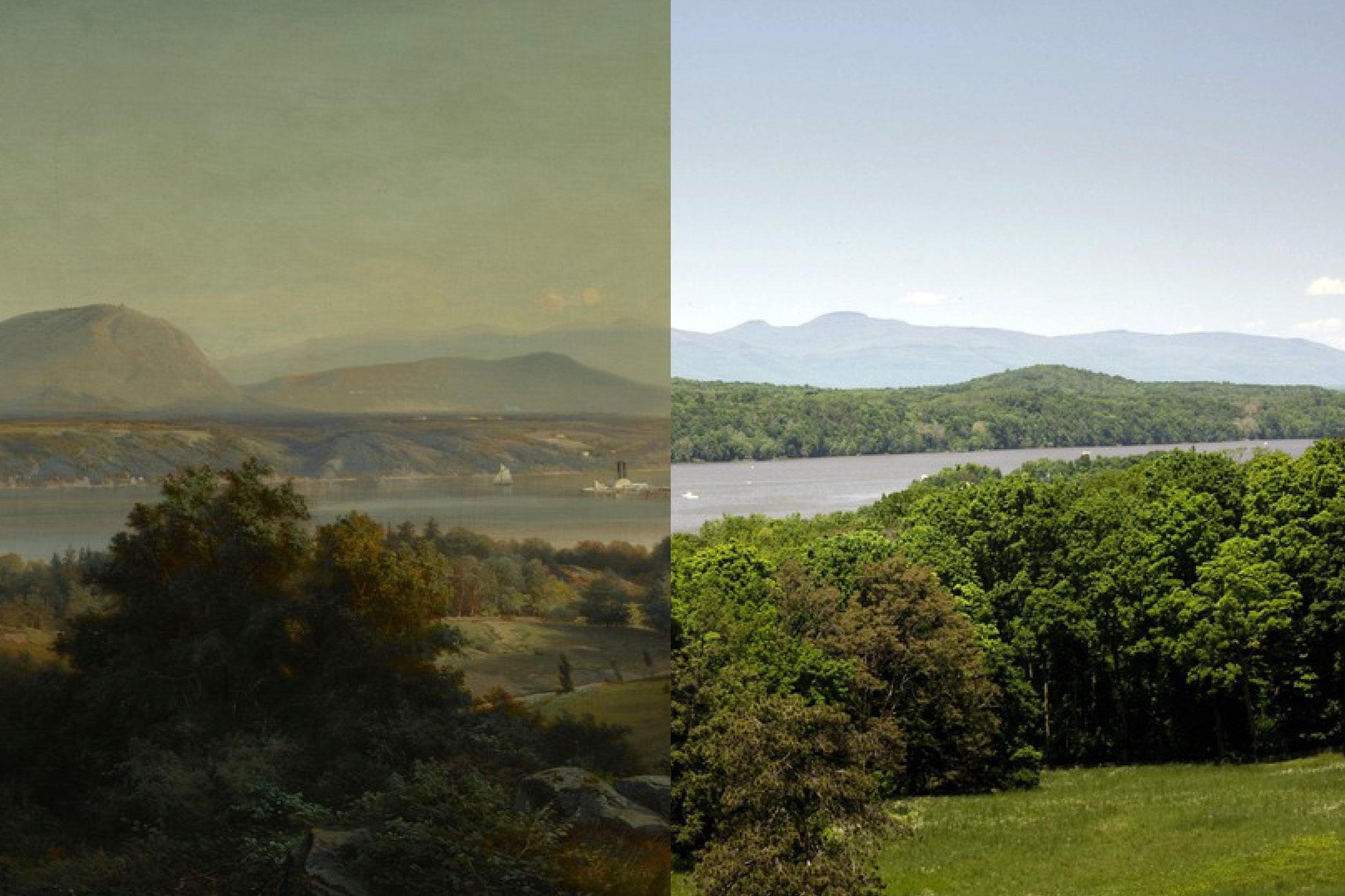 Hudson River from Vanderbilt Mansion National Historic Site -