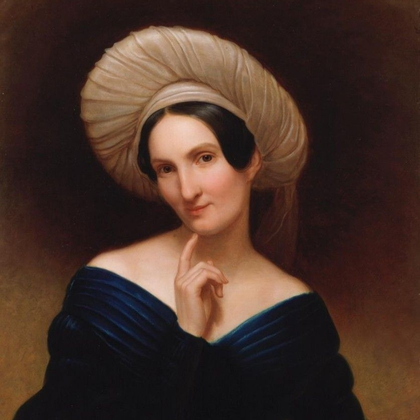 Harriet Cany Peale (1799-1869)   Harret Cany Peale shared a Philadelphia studio with her husband, Rembrandt Peale (1778-1860), the well-known portrait and historical genre painter (she was his second wife), and exhibited throughout the 1840s, 50s and 60s at the Pennsylvania Academy of Fine Arts. Peale was primarily known as a portrait and still life painter, but with  Katterskill Clove , shows herself to have been a masterful landscapist with an interest in iconic subject matter.  Excerpted from Jennifer Krieger,  Remember the Ladies , 2010  Visit the place that Peale painted on the Art Trail:    Kaaterskill Clove    Painting: Rembrandt Peale.  Portrait of a Lady (Harriet Cany Peale) (detail) , ca. 1840, oil on canvas, mounted on panel, Chrysler Museum of Art.