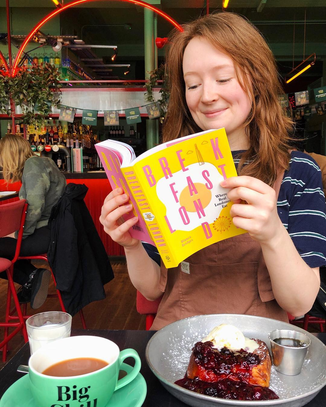 Thanks to my lovely friend Christy for snapping this pic! (This book was very kindly gifted by Ebury)