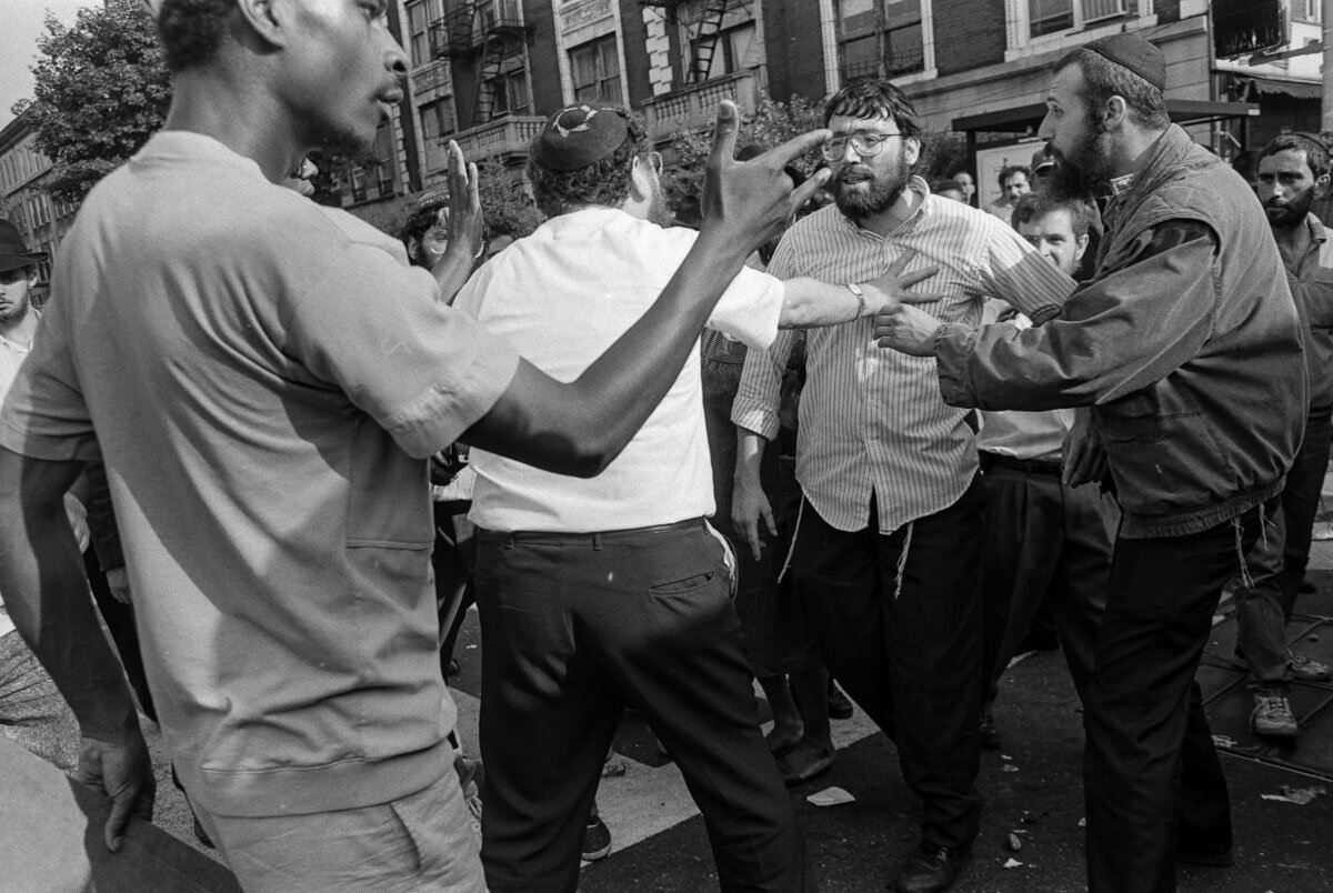Black/Jewish conflict on display at the Crown Heights Riot in 1991