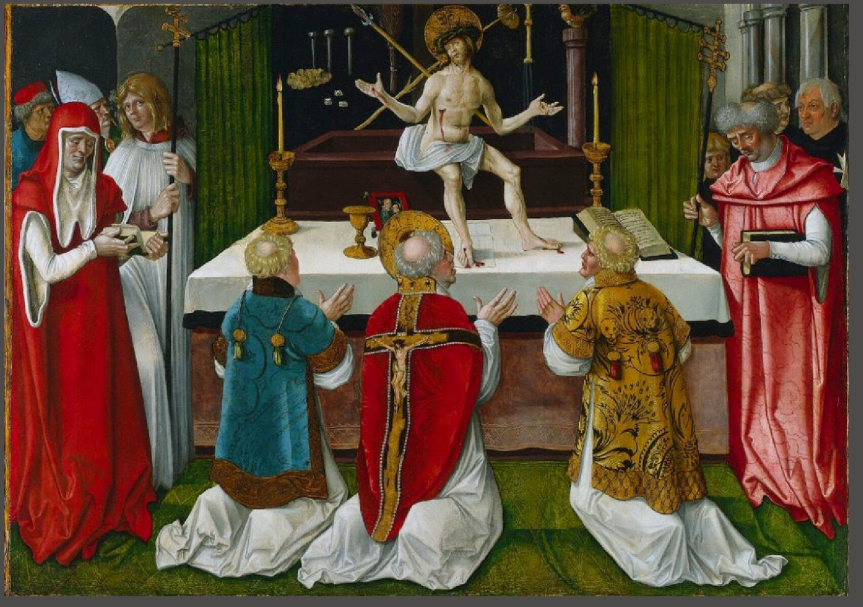 The Miraculous Mass of St. Gregory, 6th Century by Hans Baldung, Strassburg, Germany 1511