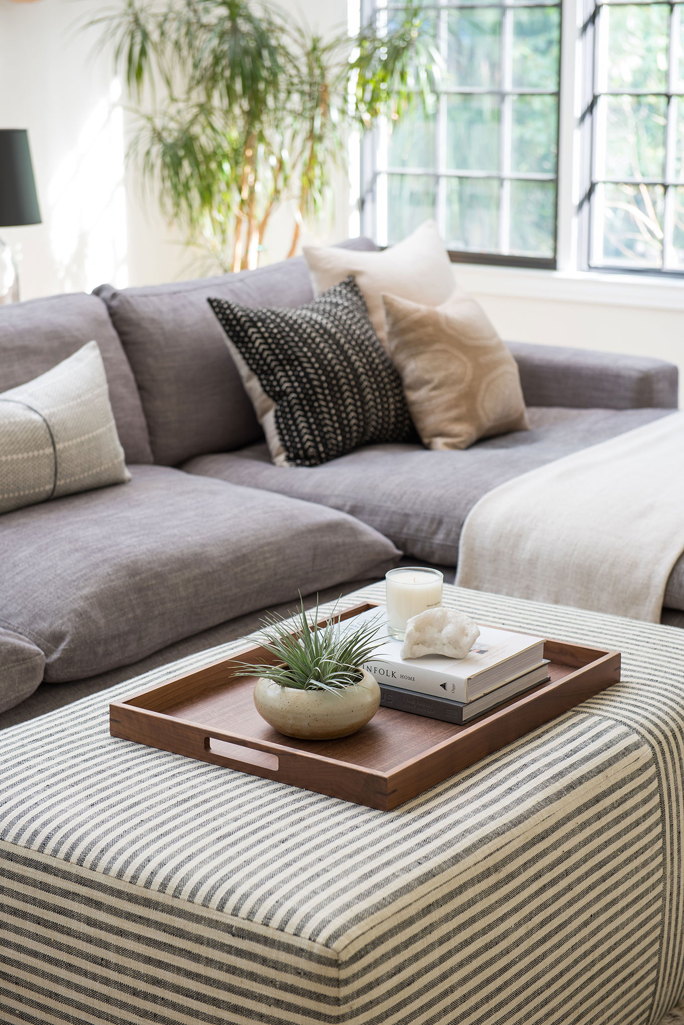 Northwest Hideaway | Amanda Steiner Design | Sofa and Ottoman Detail