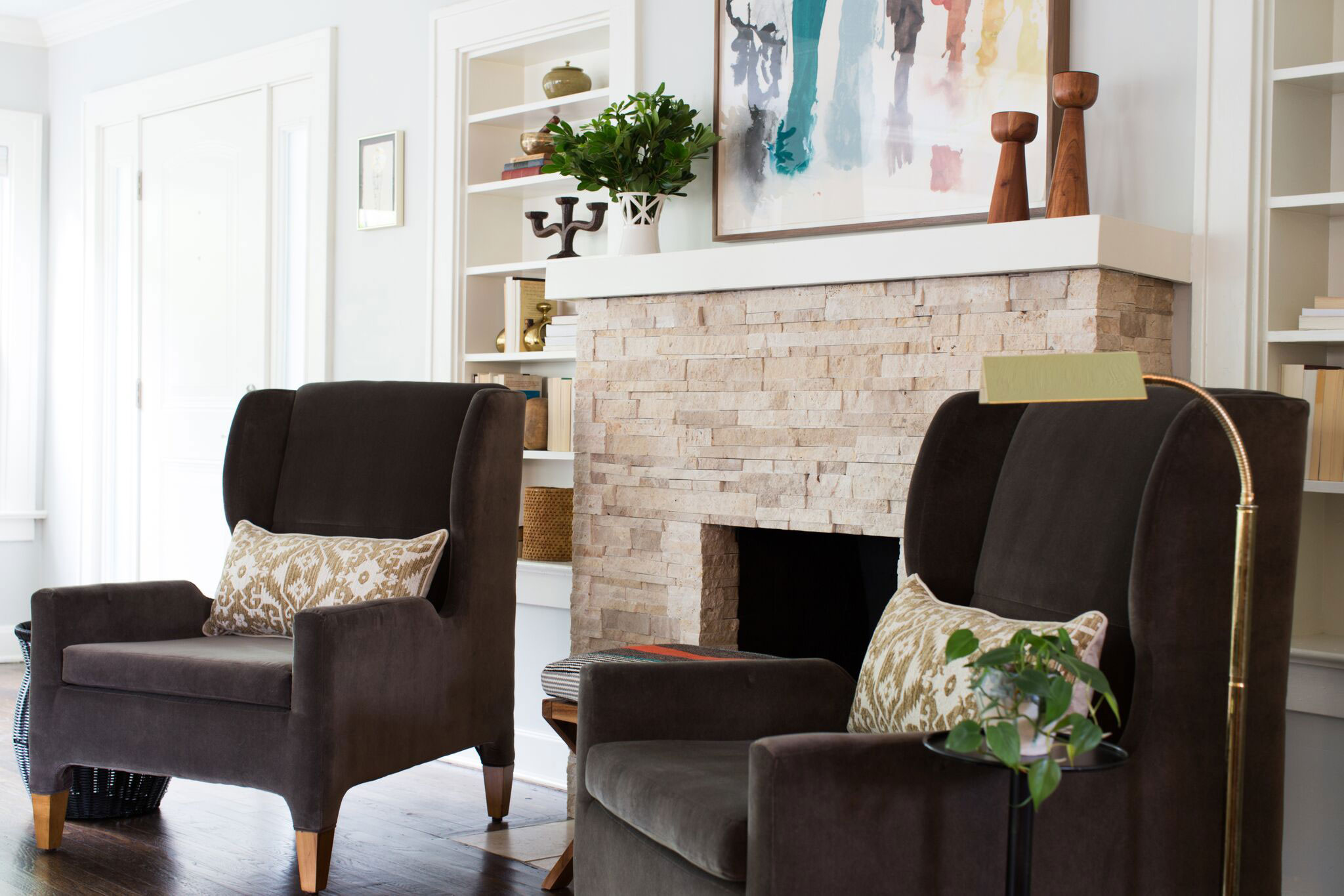 Brookside Living | Amanda Steiner Design and Coveted Home | Pair of Wingback Chairs