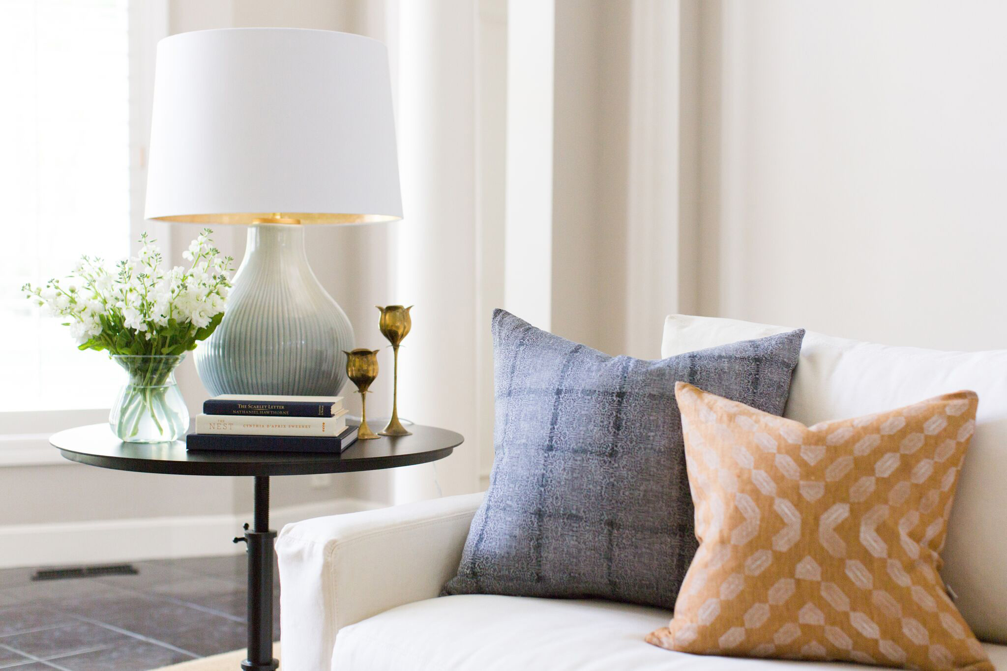 Hallbrook Living | Amanda Steiner Design | Blockprint Pillows