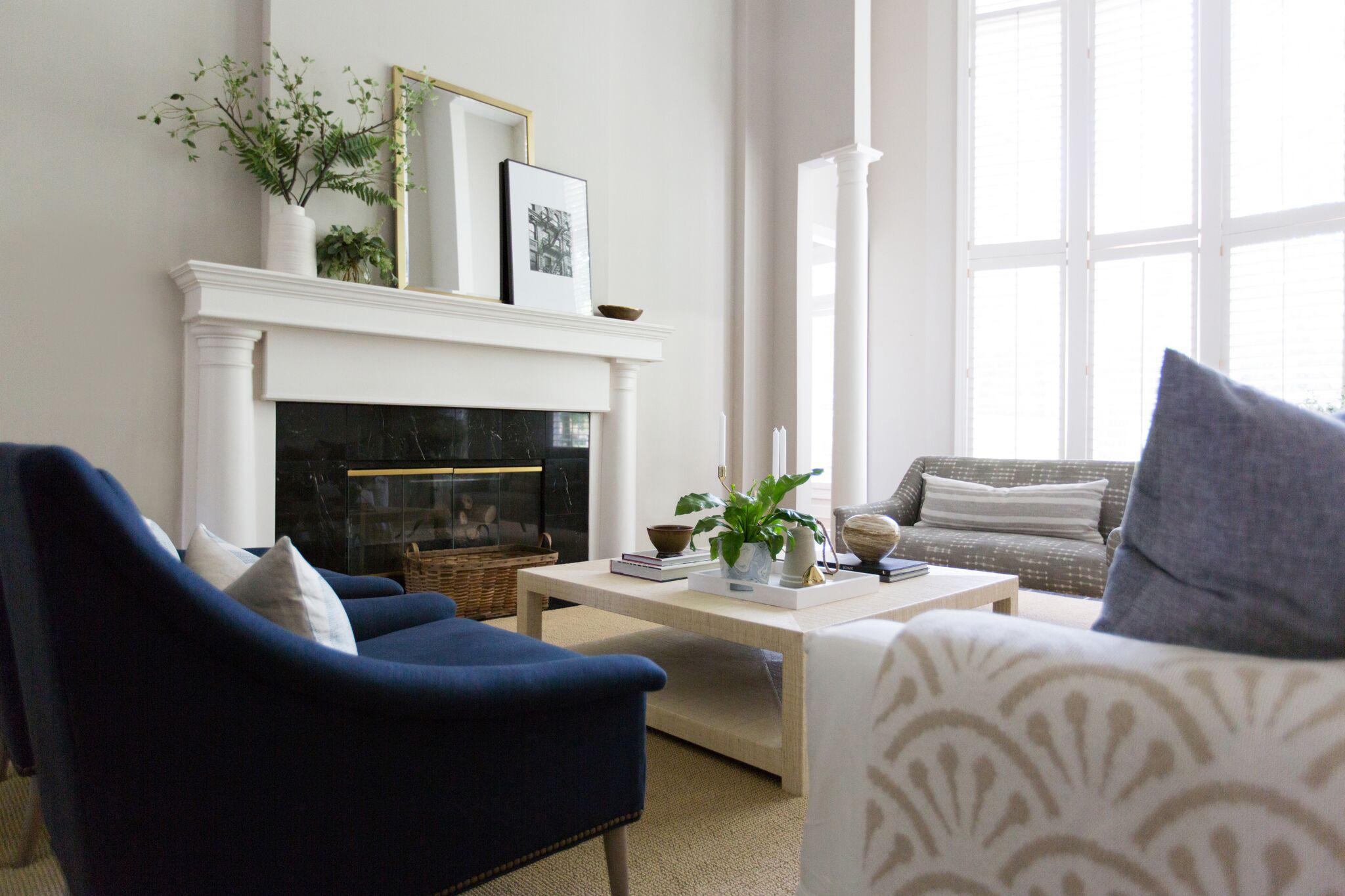 Hallbrook Living | Amanda Steiner Design | Coastal Inspired Living Room