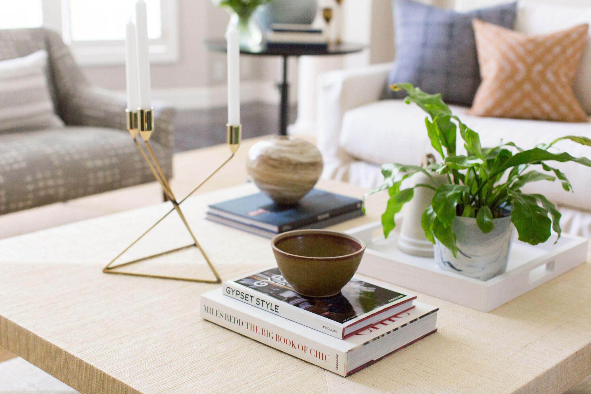 Hallbrook Living | Amanda Steiner Design | Coffee Table Details