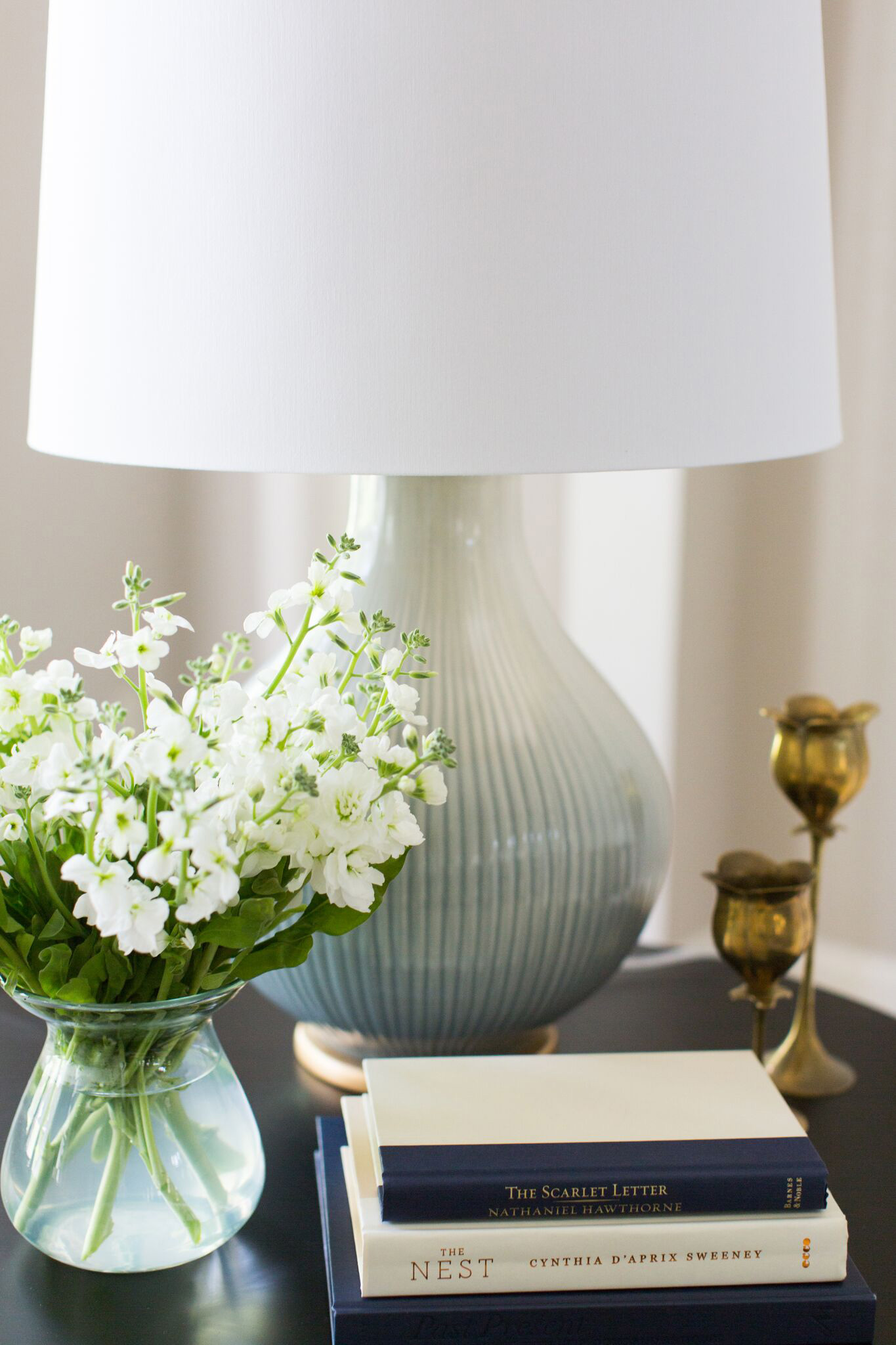 Coastal Fresh in the Midwest | Amanda Steiner Design | Glazed Ceramic Lamp