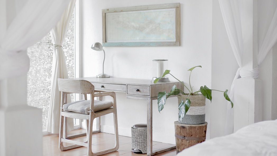 minimalist workspace - Living With Less - Her Bags Were Packed