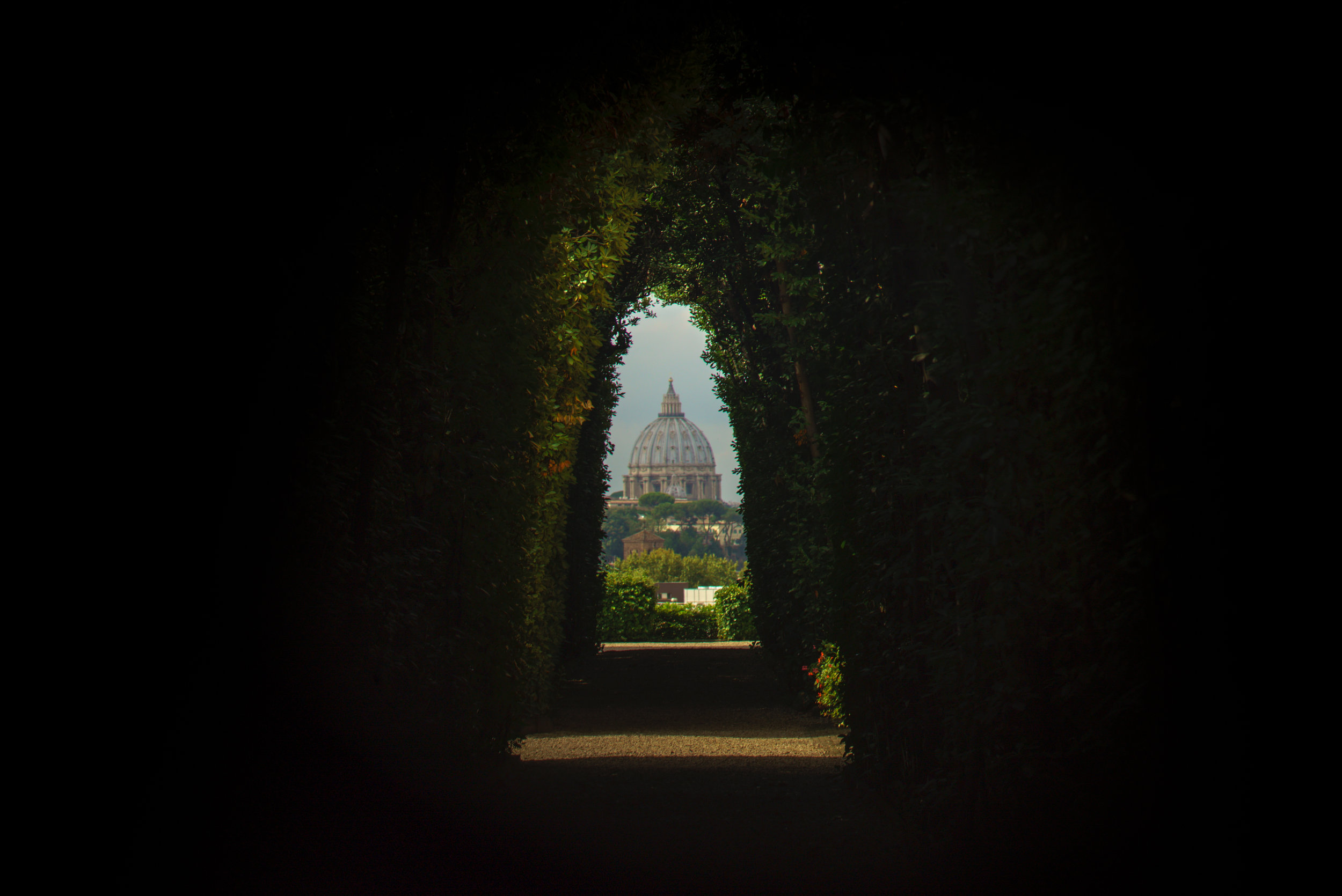 Rome Keyhole - Her Bags Were Packed