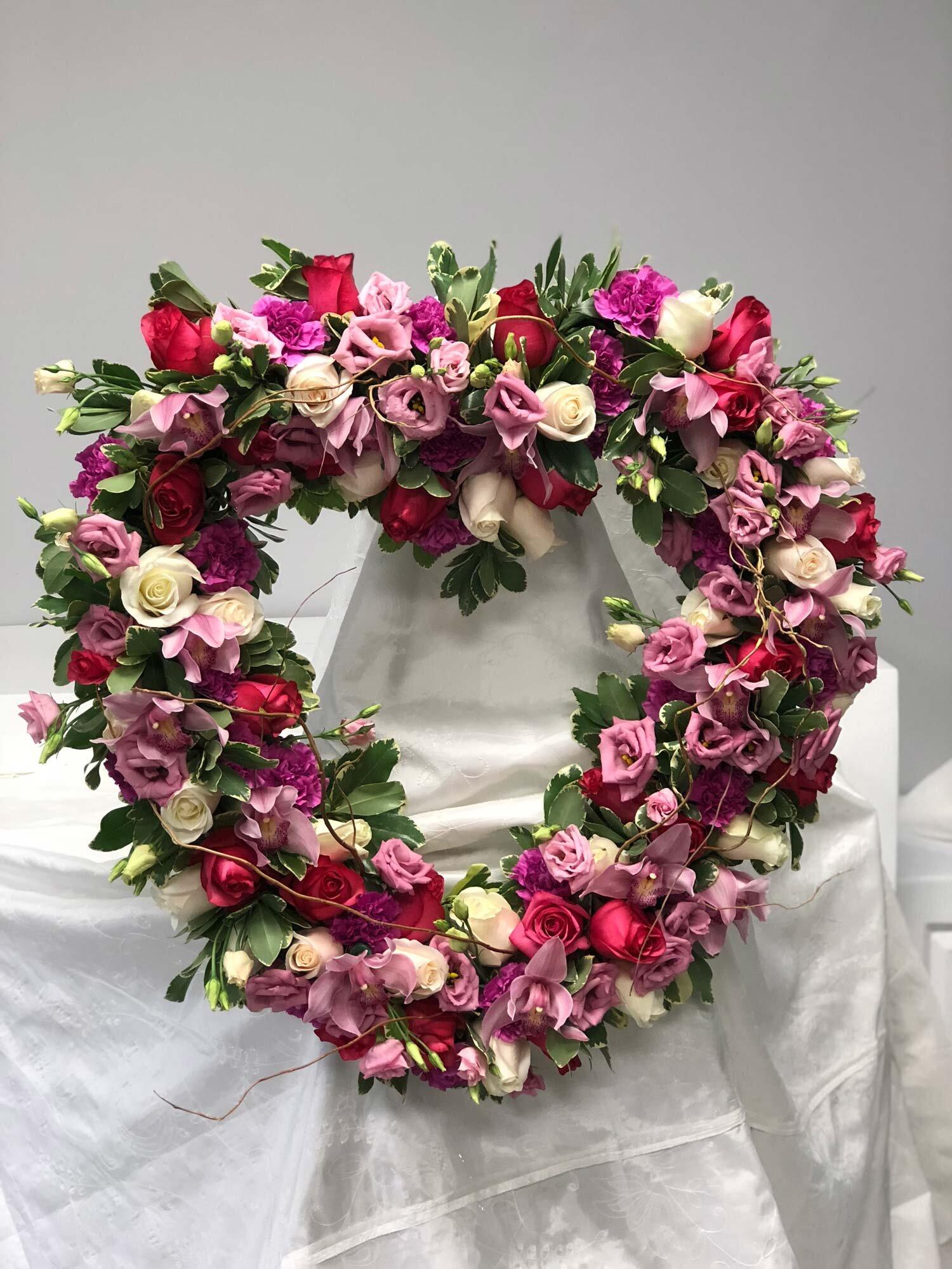 Wreath, Cross and Heart -
