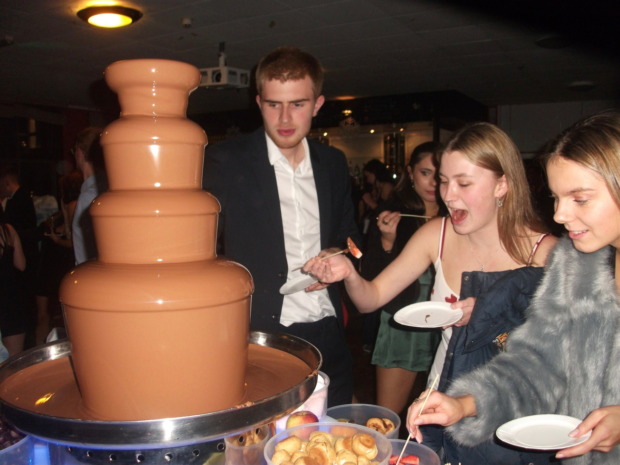Chocolate Fountain with 10 different dipping items