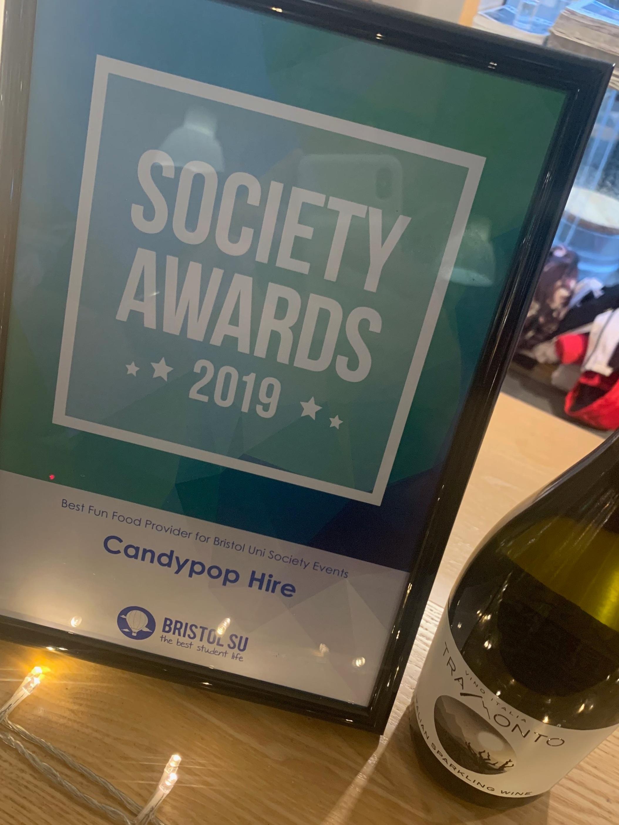 Bristol student union Society award winners