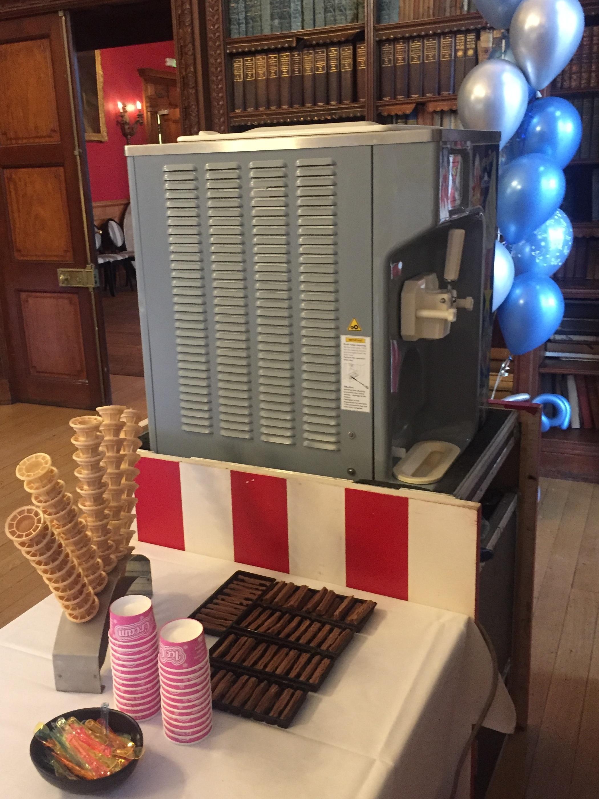 Ice Cream machine at Boutique Hotel chain