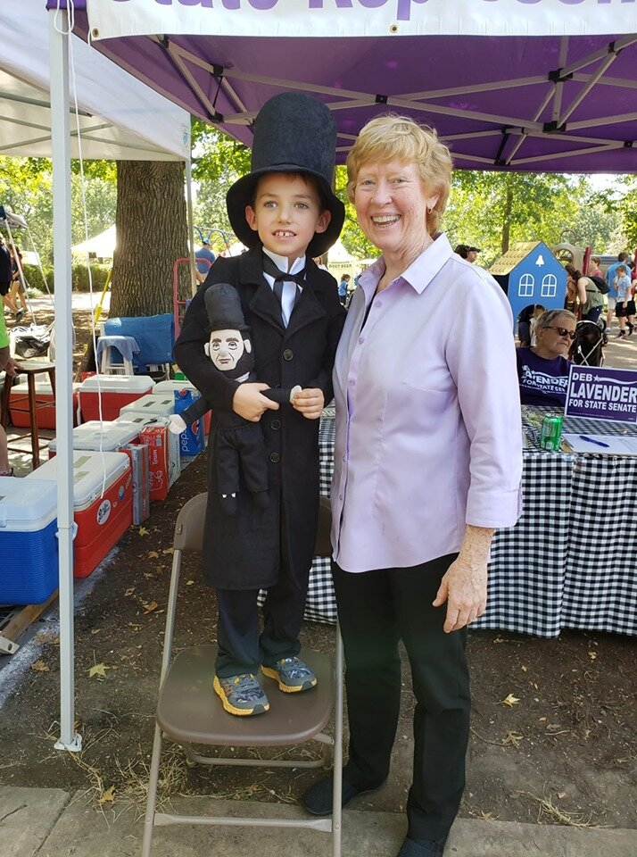 Kirkwood Greentree Festival - Perfect weekend for GreenTree, and Abe stopped to visit.