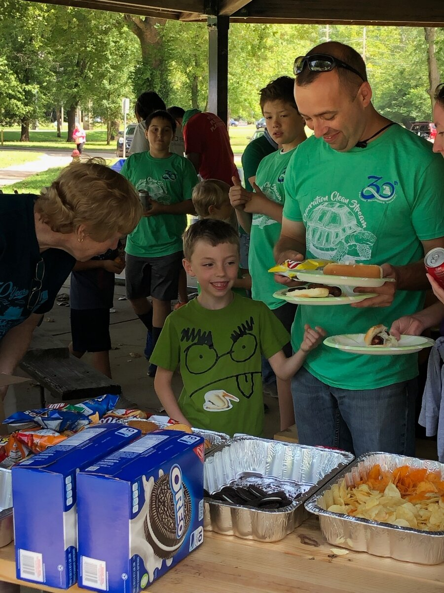 Operation Clean Stream - For the past 4 years I have enjoyed serving lunch to the volunteers who donate their time to clean up our local waterways.