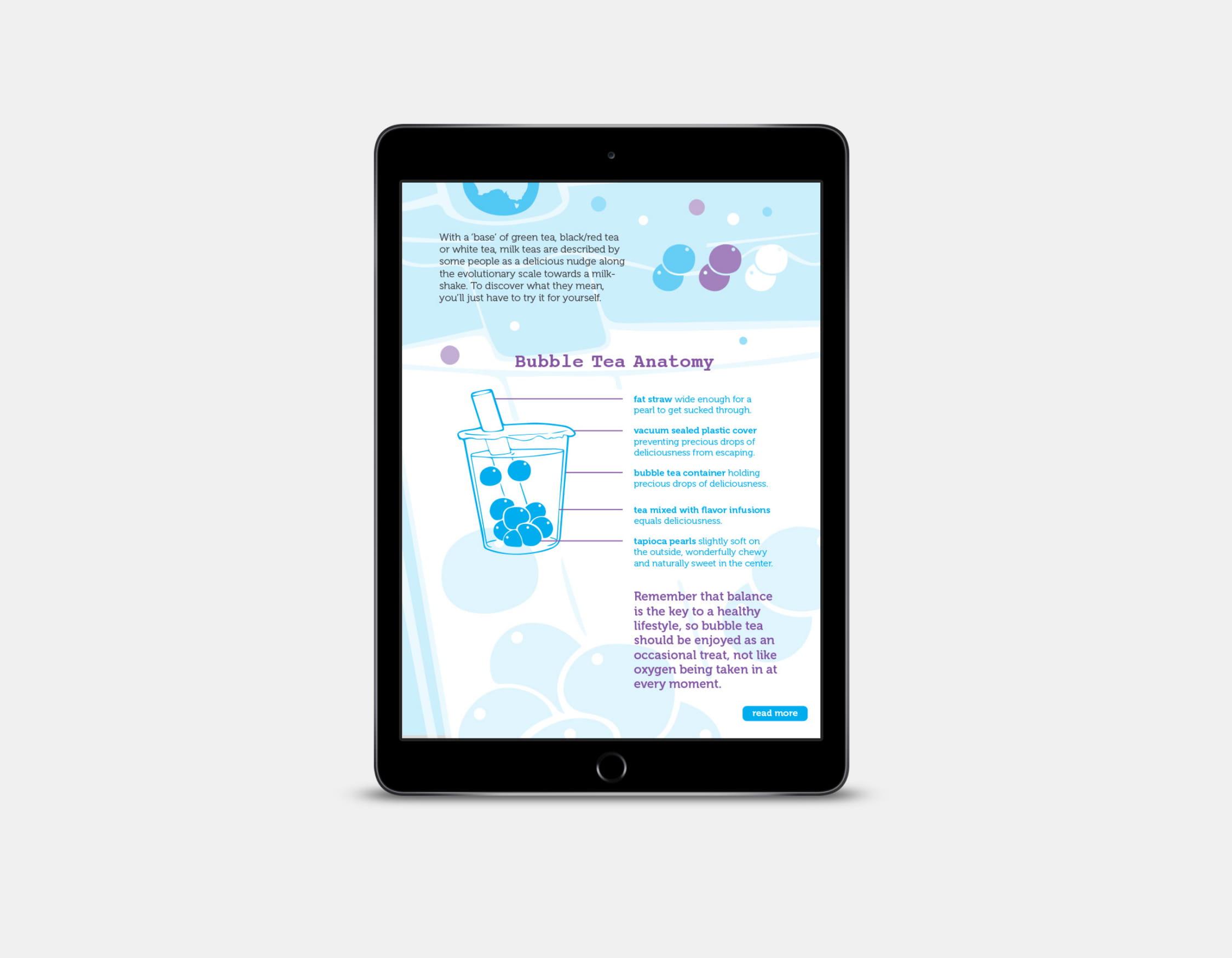 Bubble Tea Editorial Infograph