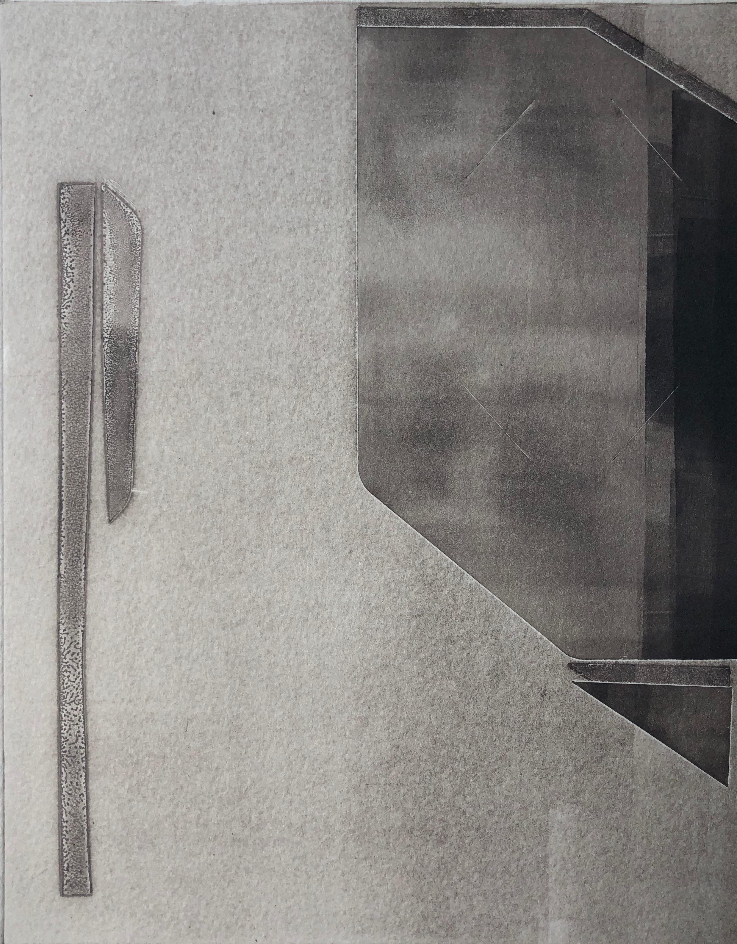 """""""faint"""" 2019   monotype   image size: 8"""" x 10""""   sheet size: 11"""" x 15"""""""