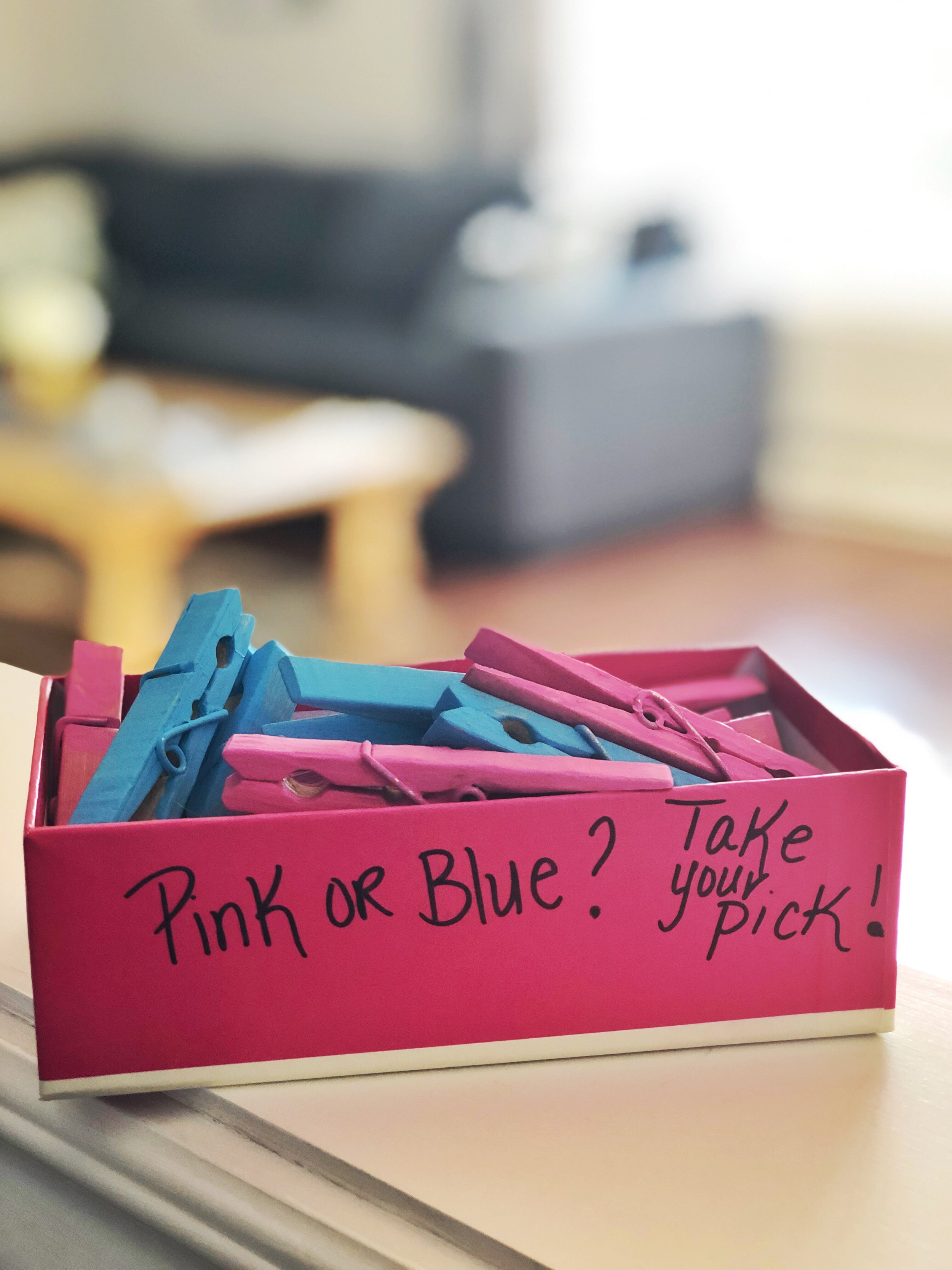 Genderreveal clothespins