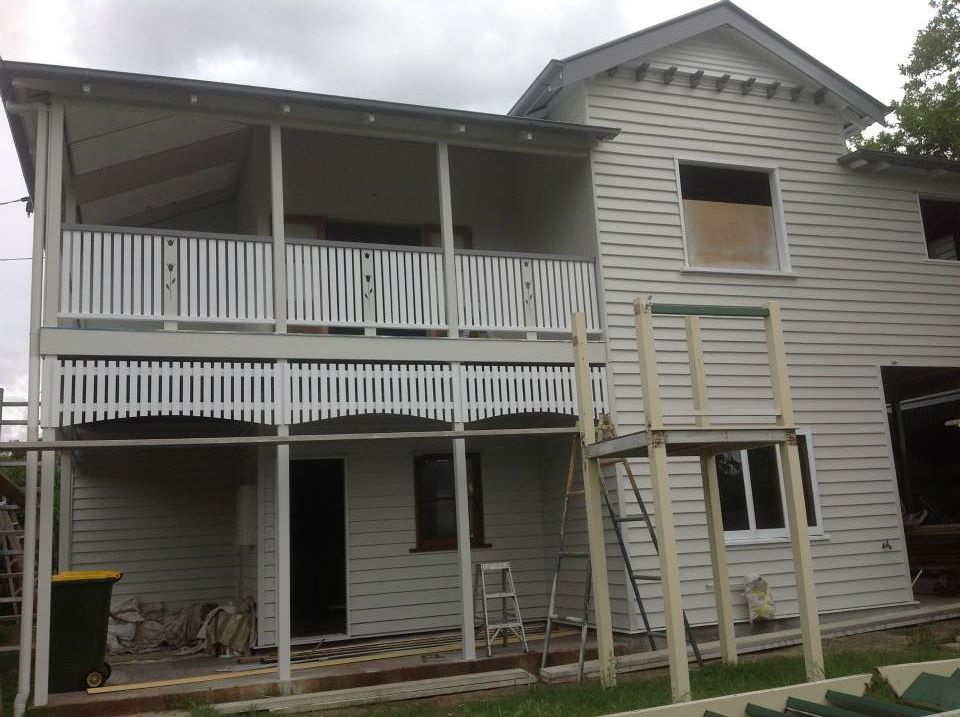 Construction - Remove front stairs.