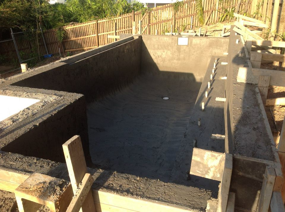 Pool shell completed.