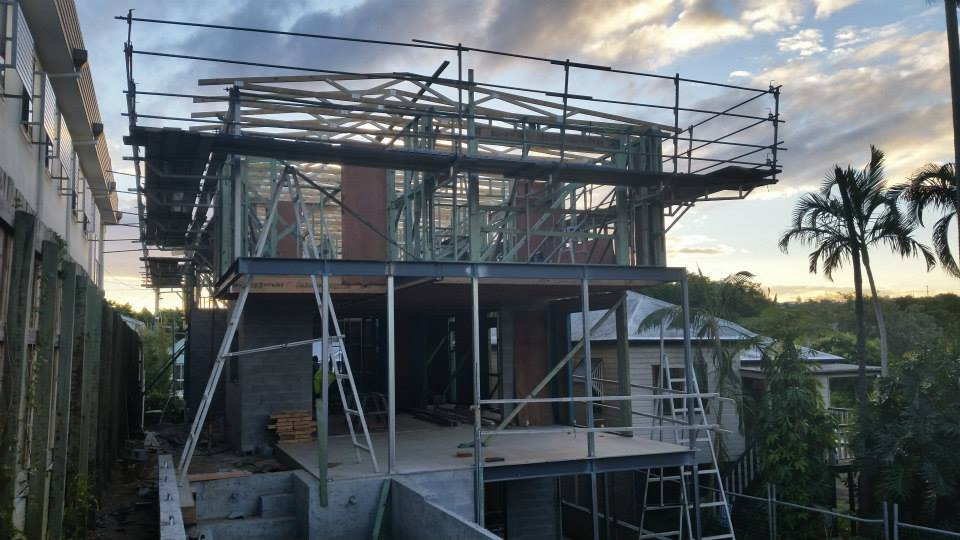 Development is underway with the roof due for completion later this week.