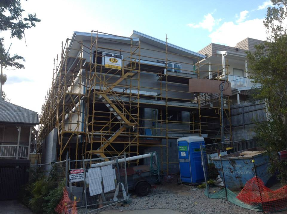 Upper level is nearly completed, scaffolding to be removed.