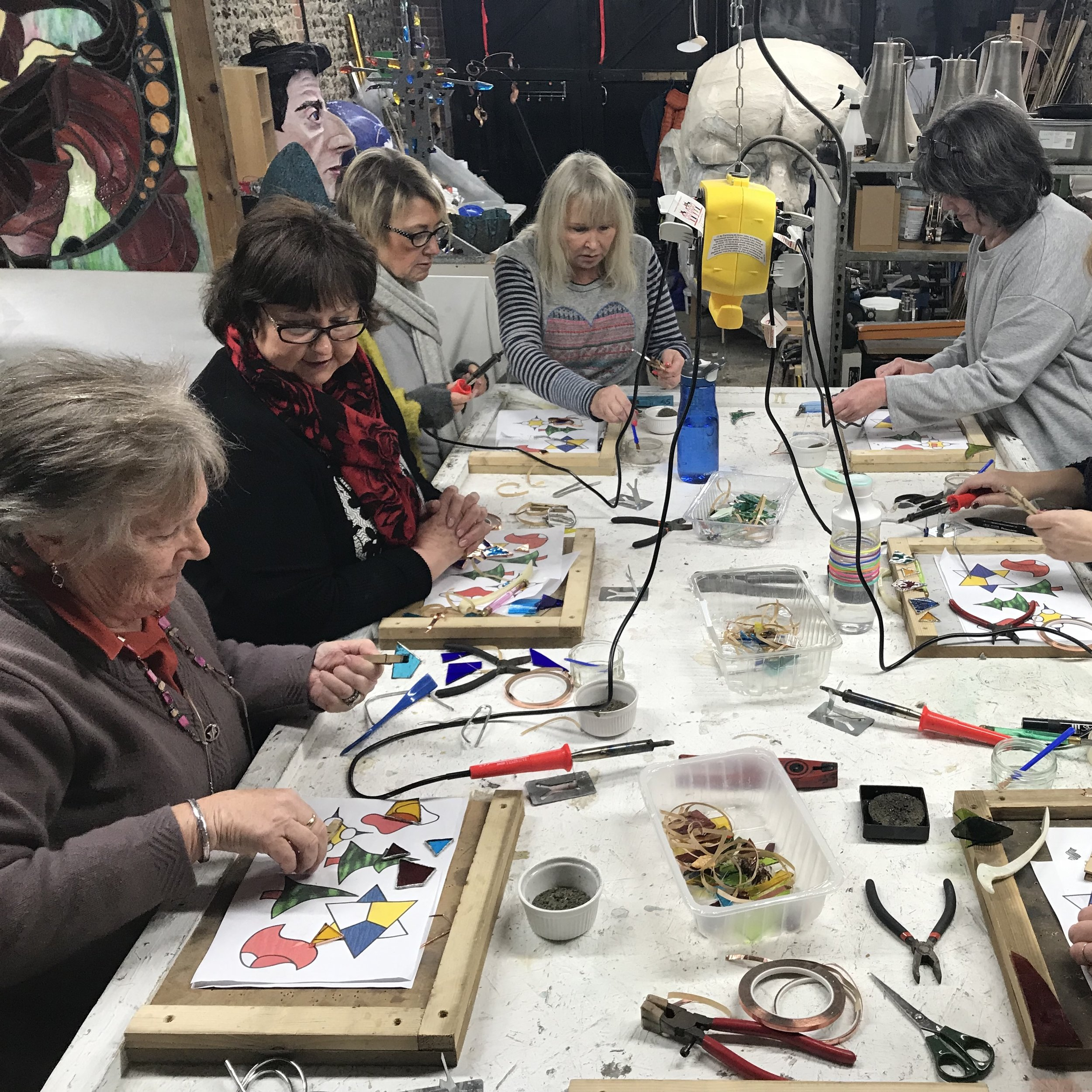 Ladies from the Ferring LighterLife group making their decorations