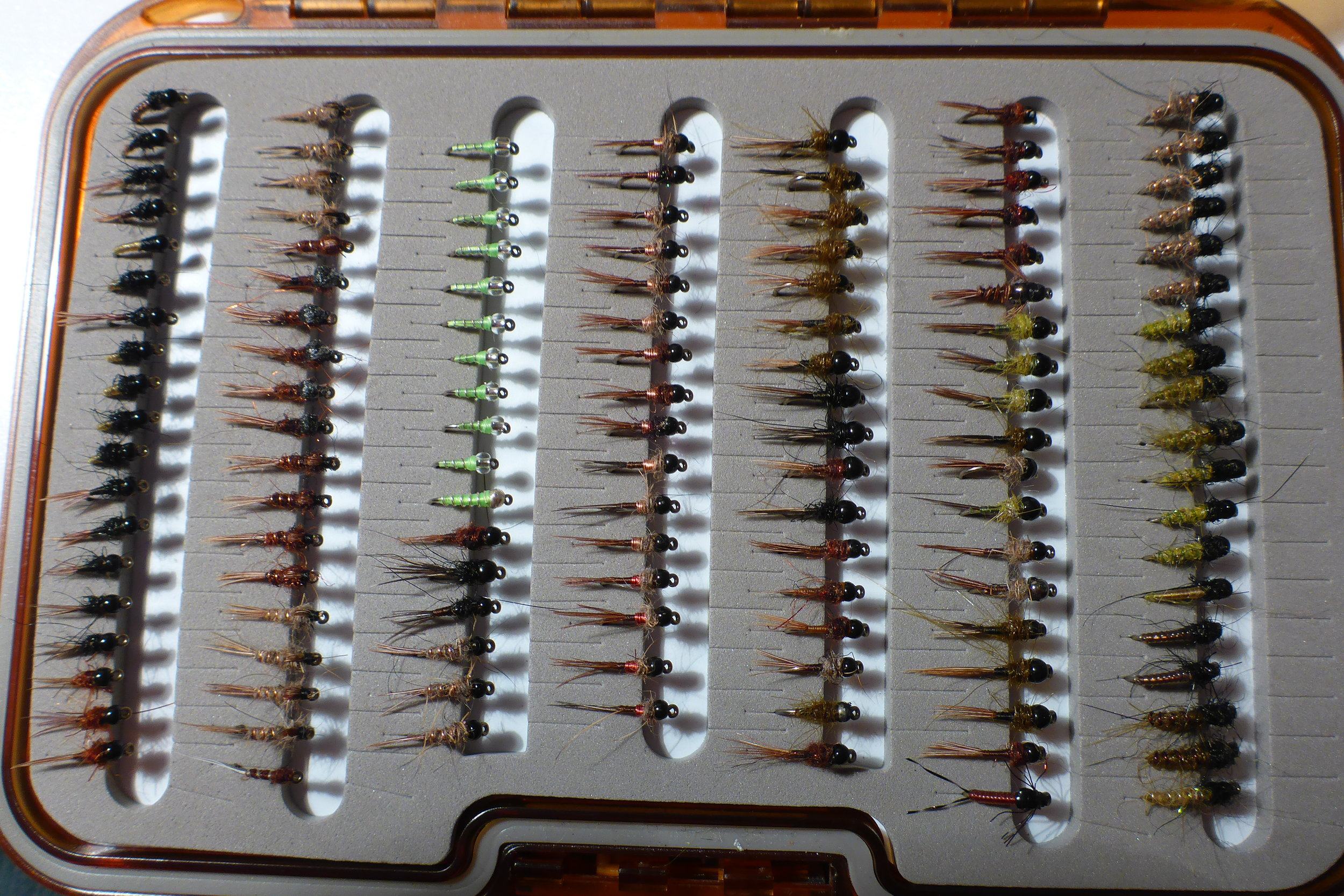16s and 18s all dark and mostly weighted, these are the flies you need for the South