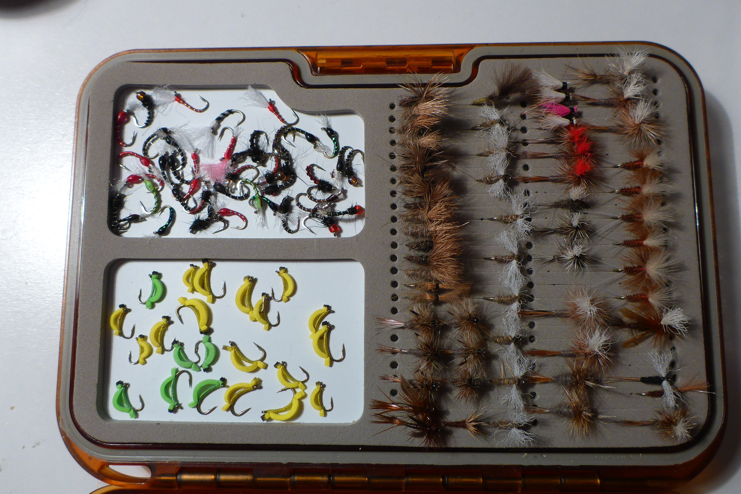Small again.. grubs, buzzers, and film flies