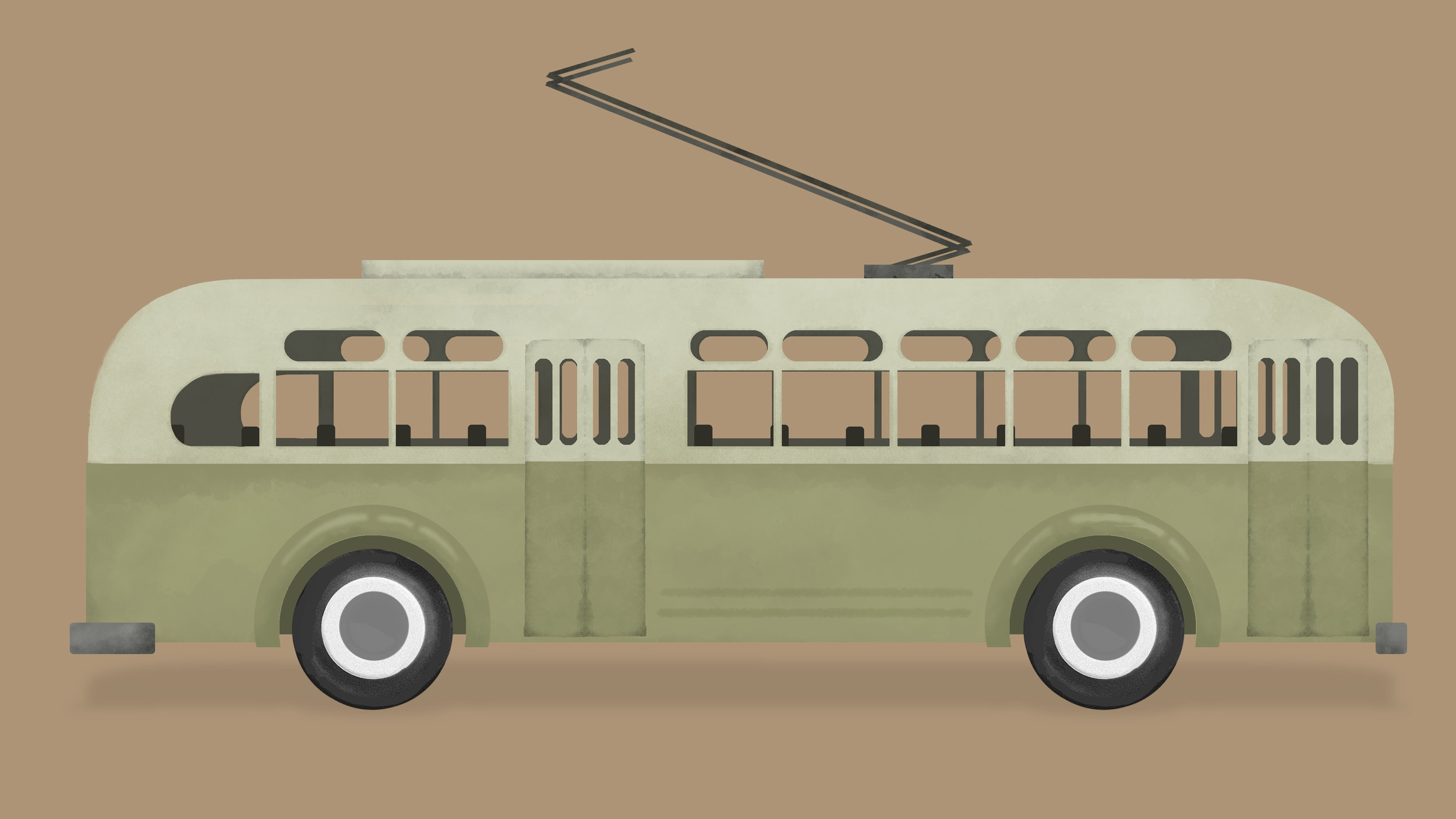 1930'S TROLLY BUS