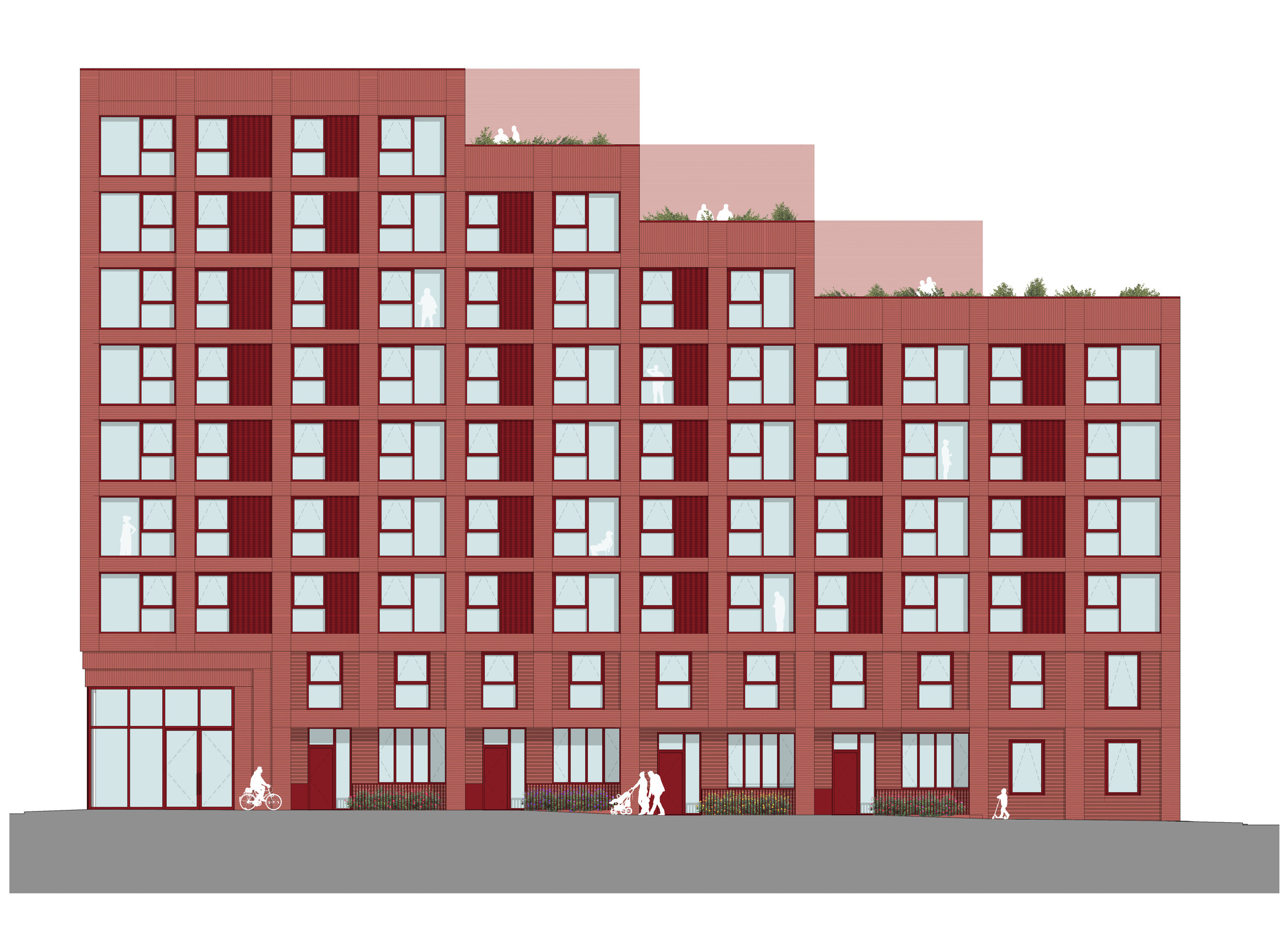 Addington Street elevation.