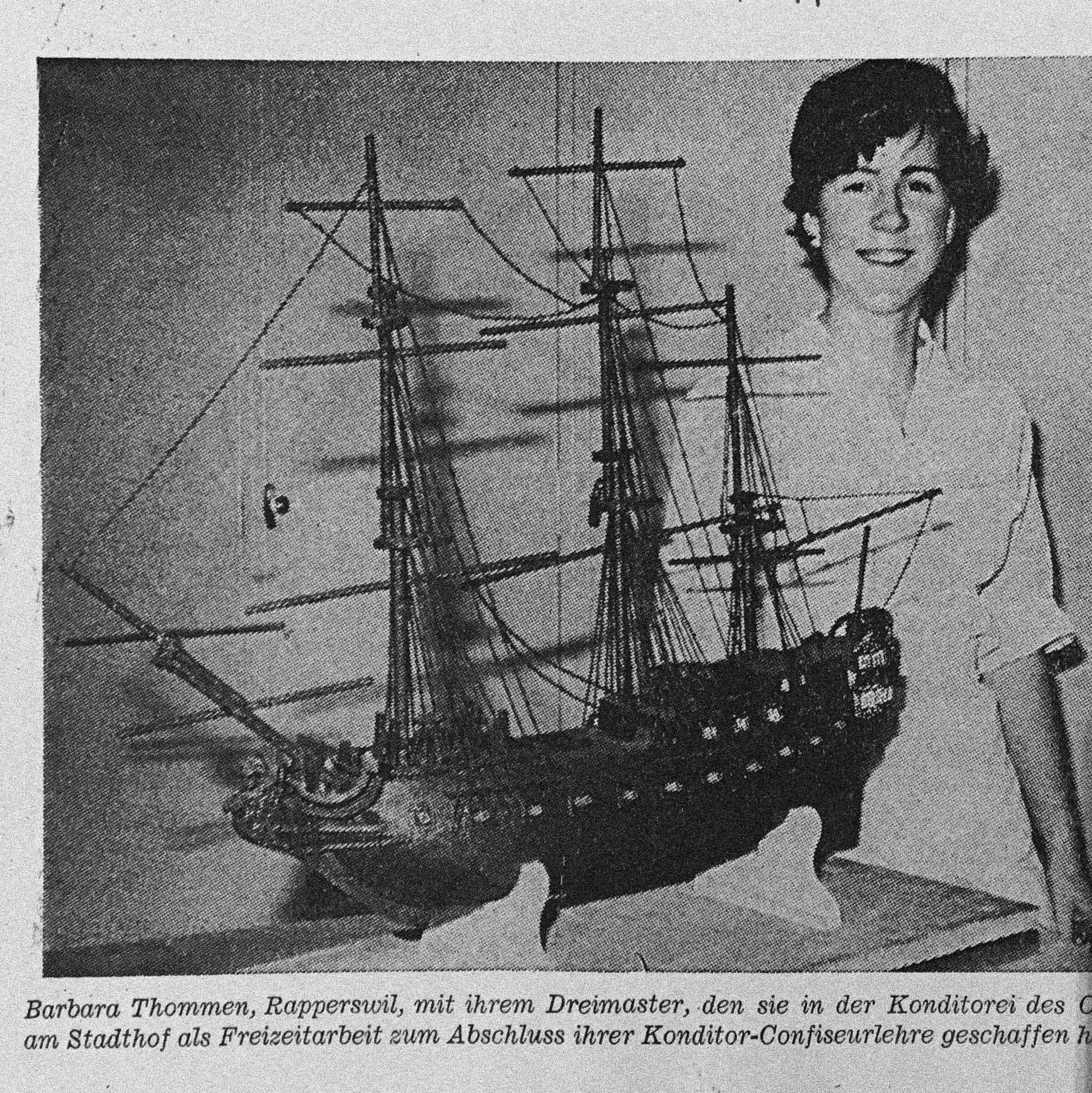 Barbra Tanner c.1970   - Apprenticeship final assessment
