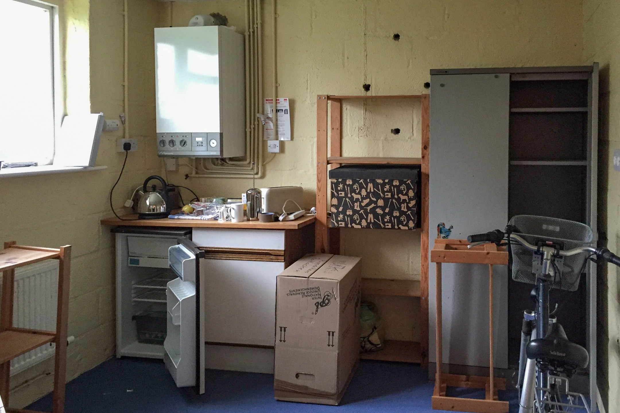 What was the cider/storage room has been transformed into one end of our kitchen