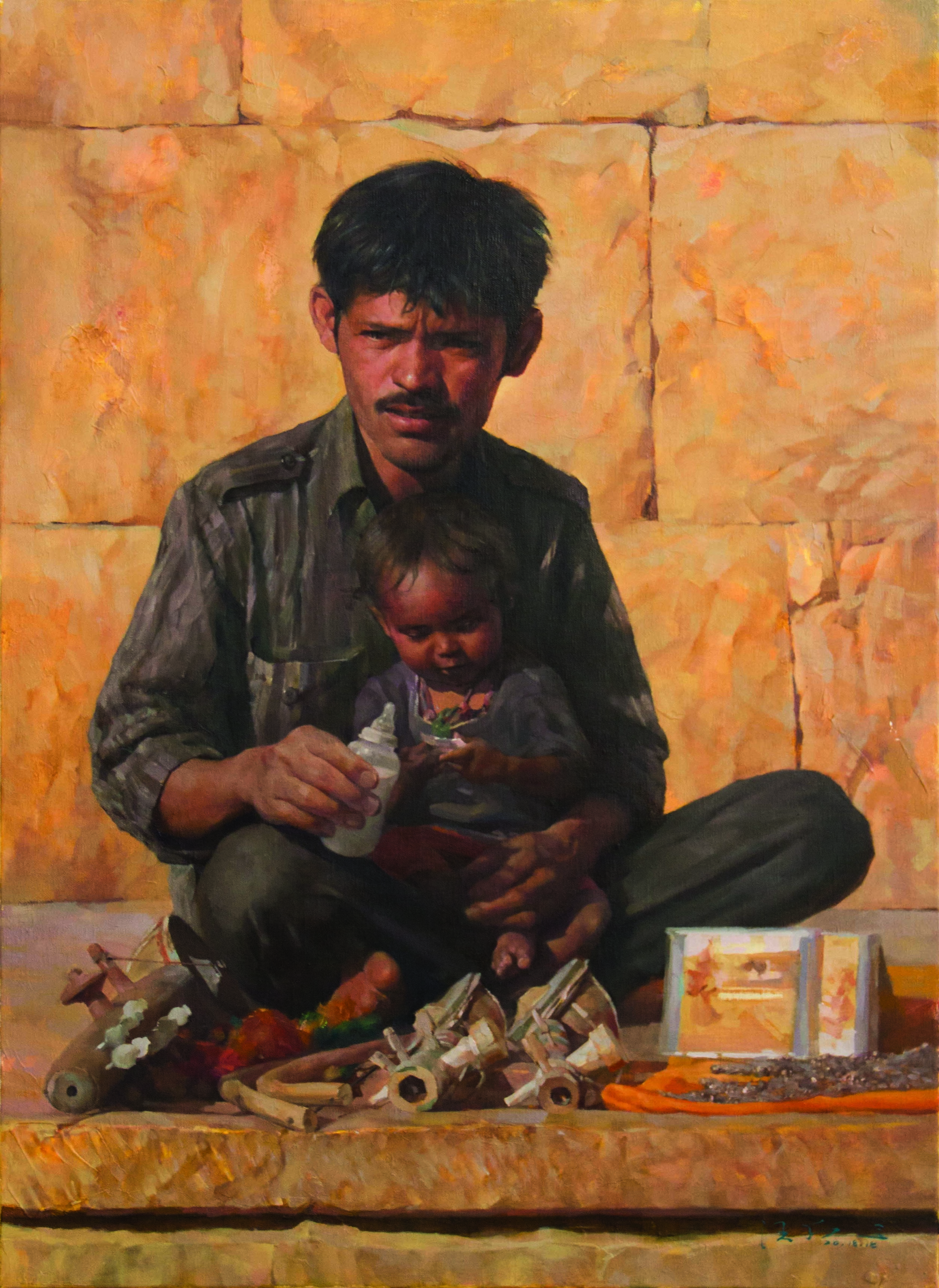 Wang Fei_In the Arms_oil on canvas_84x59cm_2018_IMG_7329_web.jpg