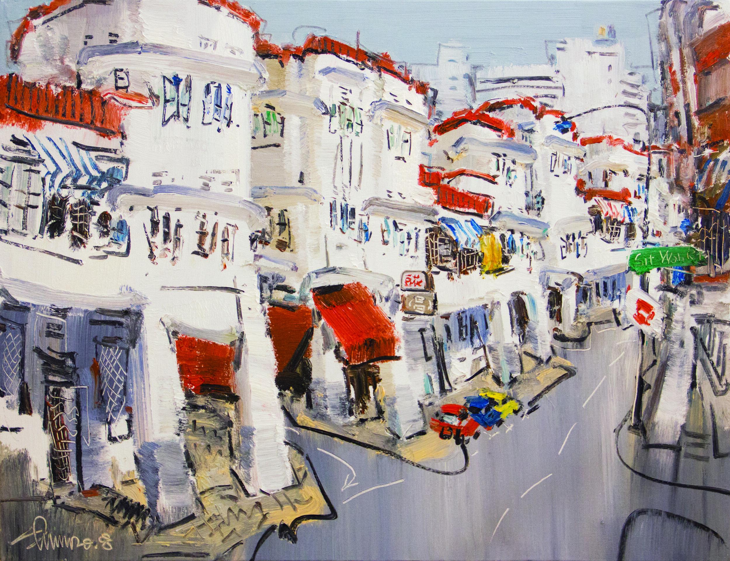 Zhu Hong  Tiong Bahru Oil on canvas 70x90 cm 2018