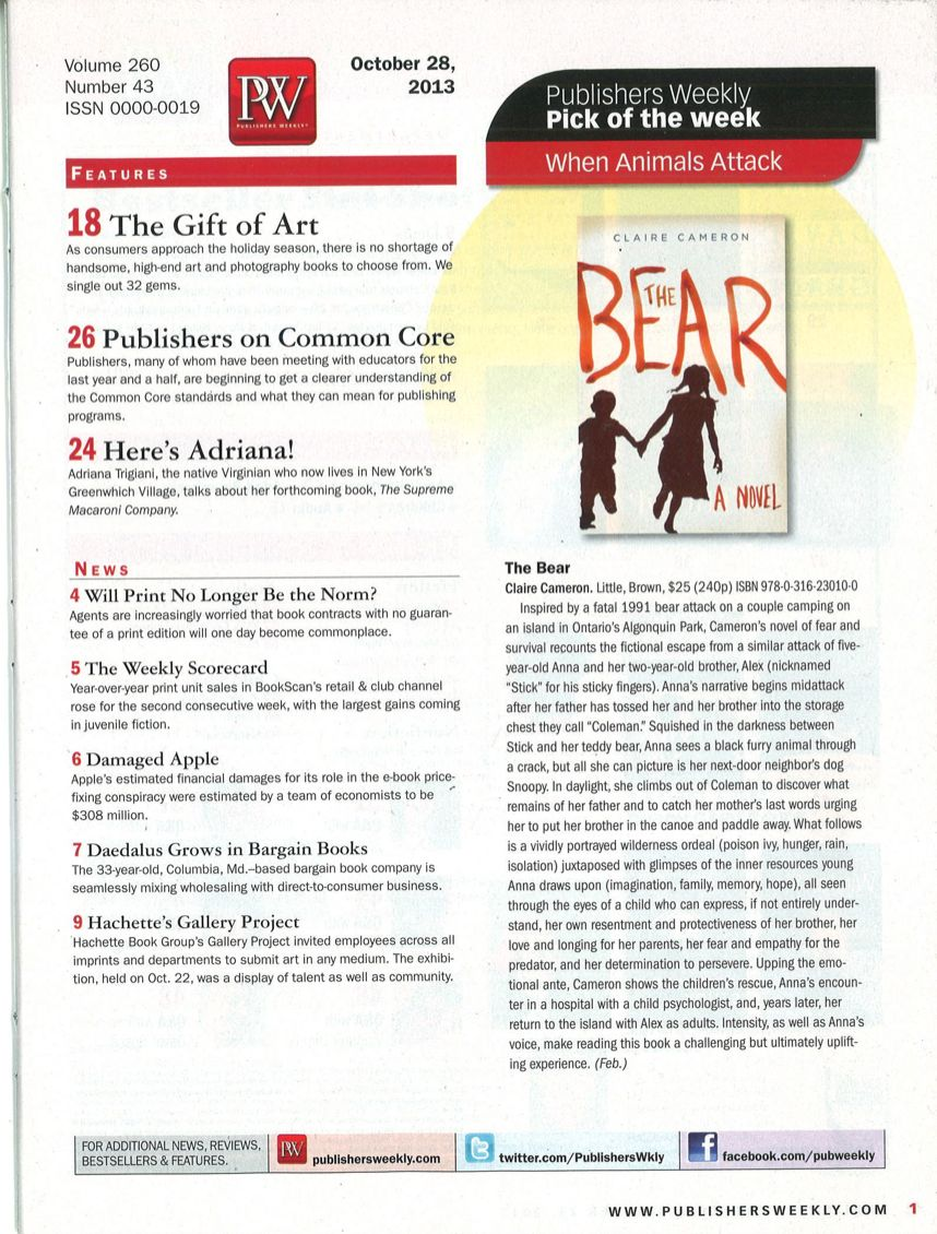 Pick of the week in Publishers Weekly