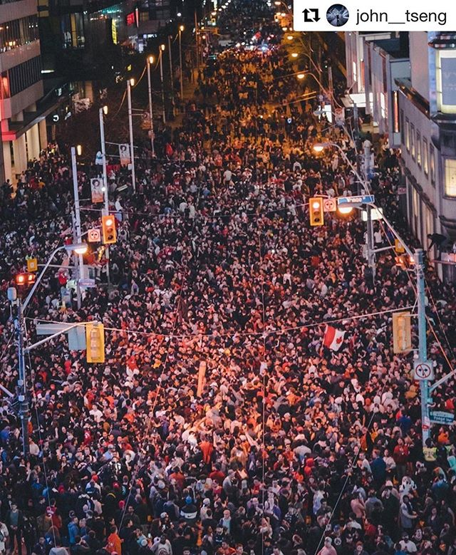 History in the making - @raptors played their Hearts out last night  We love seeing how much of the city came out to support our team, even from afar!  #raptors #championship #wethenorth #torontoraptors #win #basketball