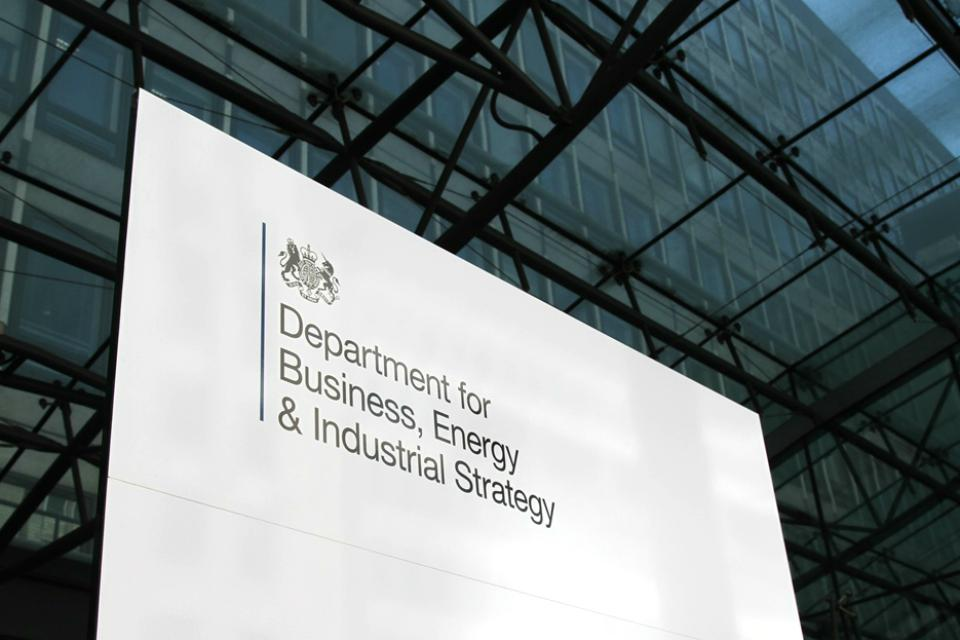 BEIS department for business energy and industrial strategy