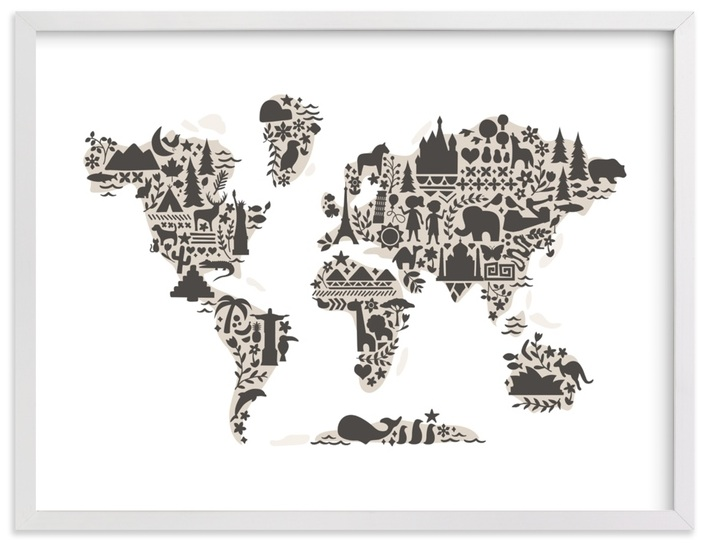 Little Big World Map available at  Pottery Barn  &  Minted