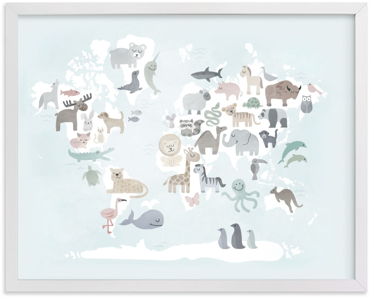 WILD WORLD MAP exclusively at Pottery Barn